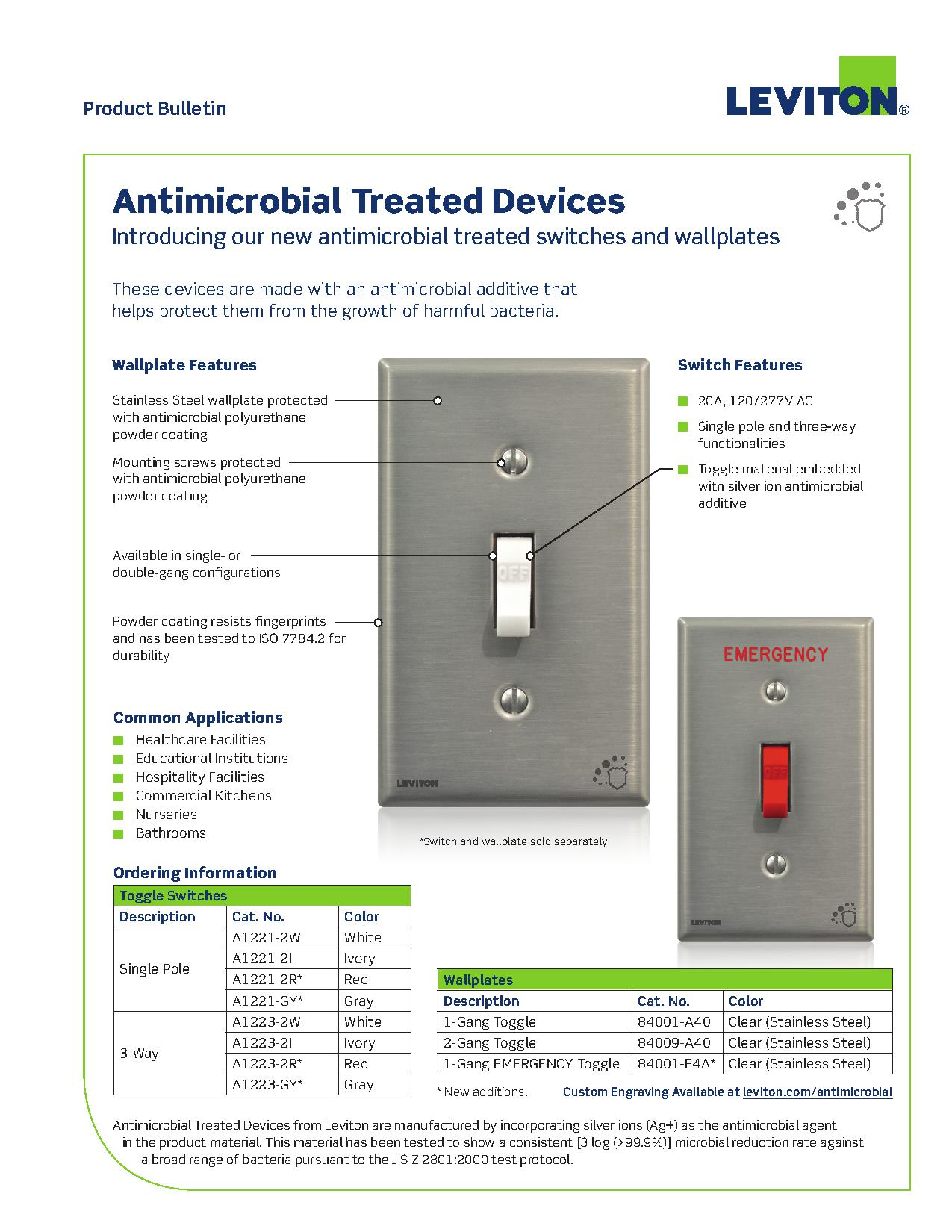Leviton Antimicrobial Devices And Wall Plates | AJB Sales