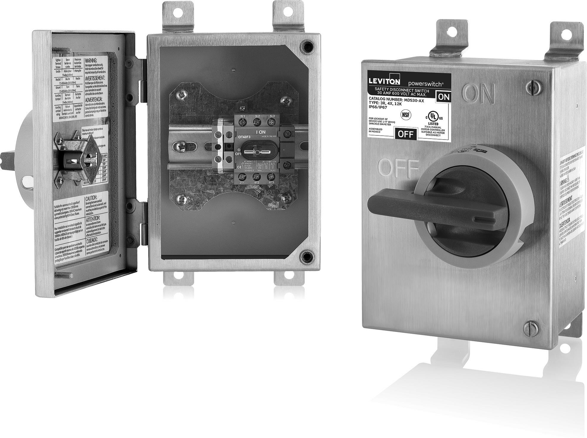 Leviton Powerswitch Stainless Steel Disconnect | AJB Sales