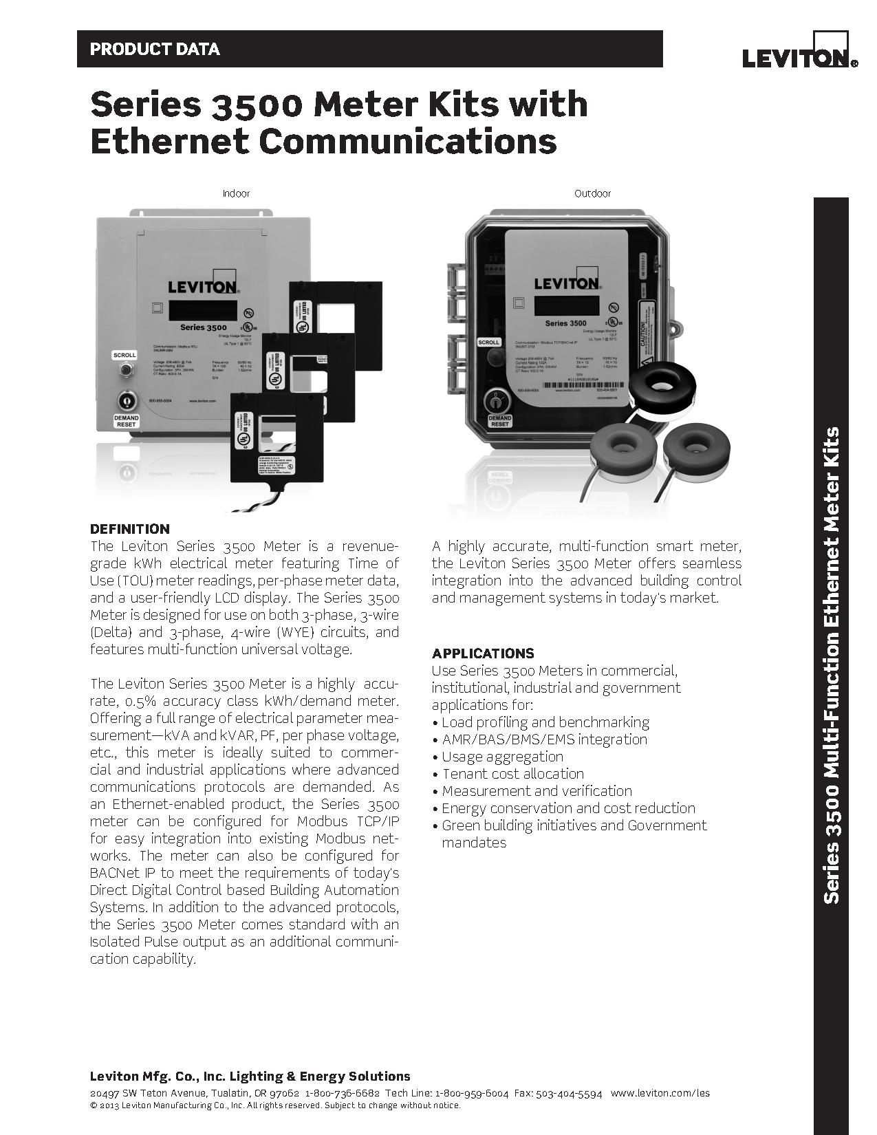 Leviton Series 3500 Ethernet Meter | AJB Sales
