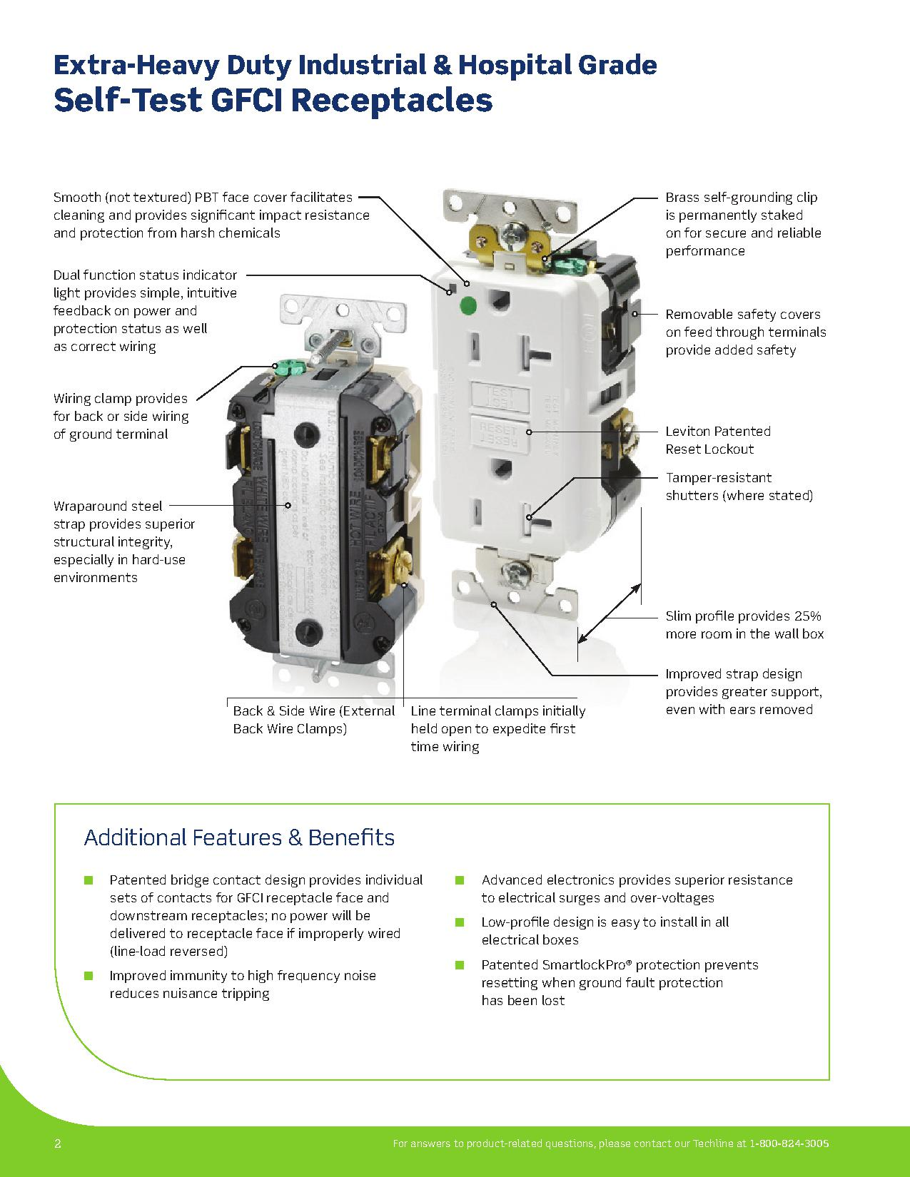 Leviton Extra Heavy Duty Self Test GFCI Receptacles | AJB Sales