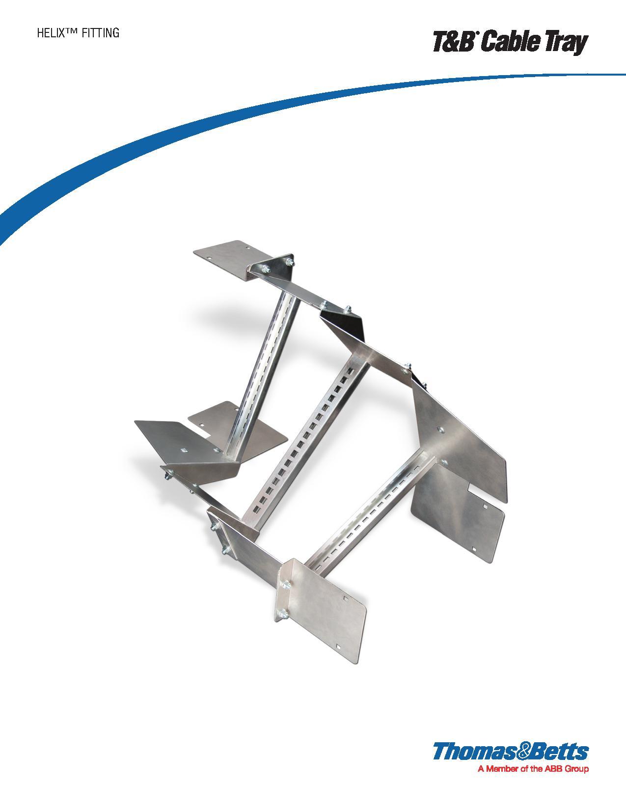 Tb Blackburn Solar Panel Feed Through Grounding Lug Ajb Sales Wiring Diagram Thomas Betts Helix Cable Tray Transition Fitting