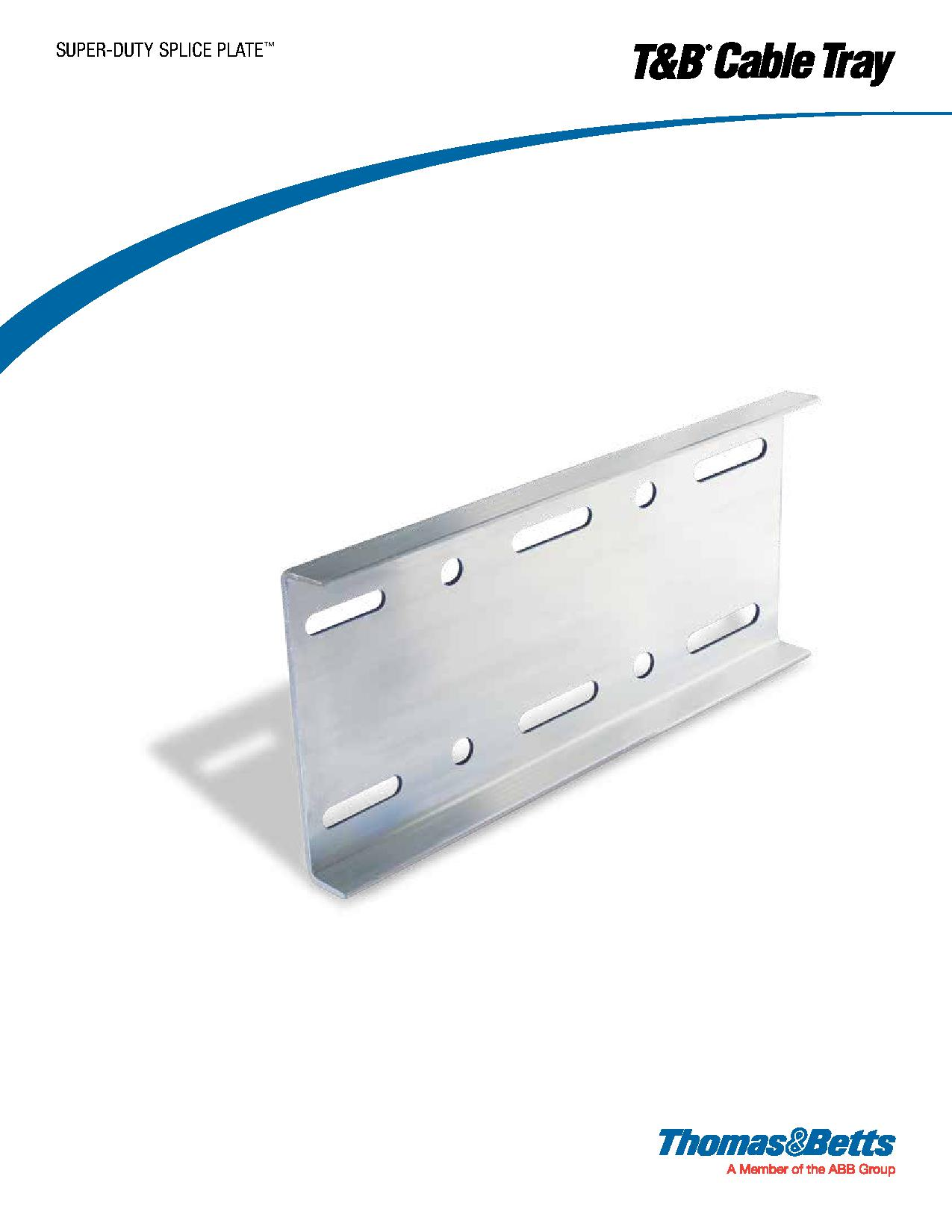 Tb Blackburn Solar Panel Feed Through Grounding Lug Ajb Sales Wiring Diagram Thomas Betts Super Duty Splice Plate For Cable Tray
