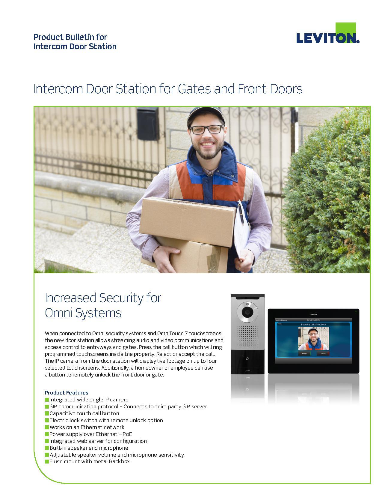 Leviton INDS1 Door Station for Lumina Gateway | AJB Sales