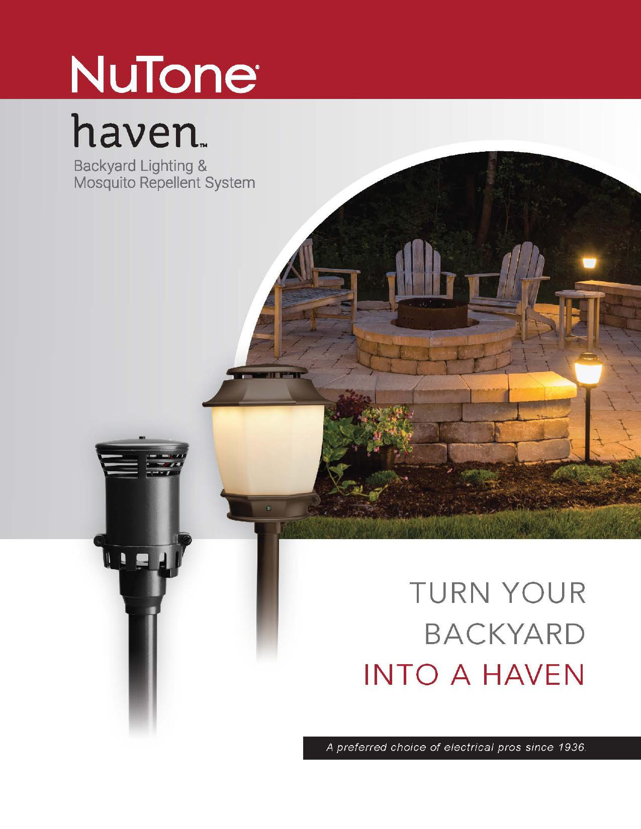Nutone Haven Backyard Lighting Amp Mosquito Repellent System
